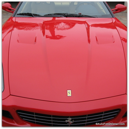 Ferrari clear coat