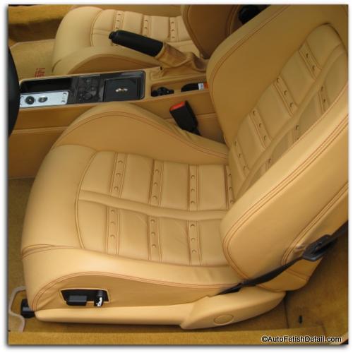 Ferrari leather car seat cleaning