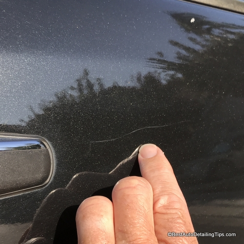 hairline clear coat scratch