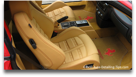 ferarri leather car seats