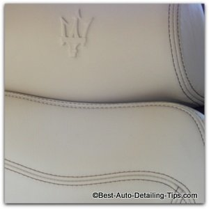 maserati car leather