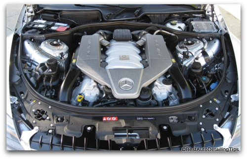 Mercedes CL63 AMG engine detail