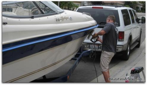 polishing boat gelcoat
