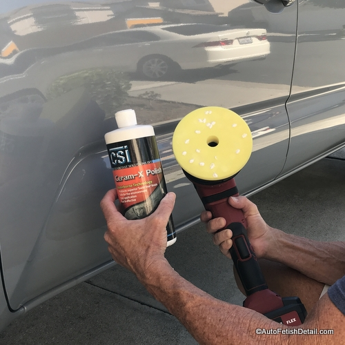 polishing car before clear coat failure