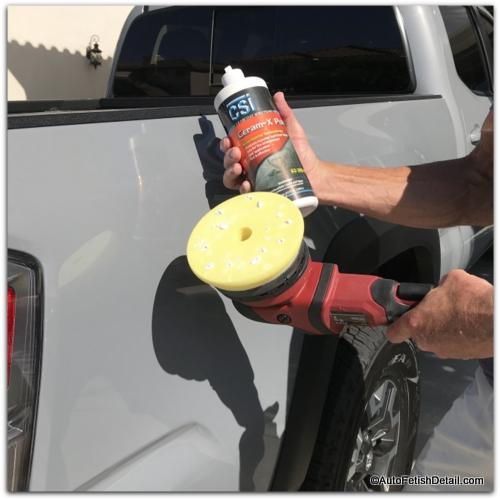 polishing car paint with random orbital car polisher