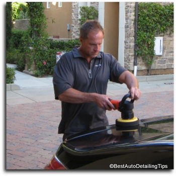 polishing with griots garage car polisher