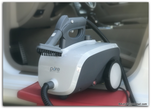 Pure steamer used as car steam cleaner