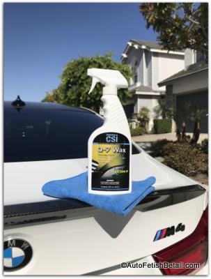q-7 wax to clean restore black car trim
