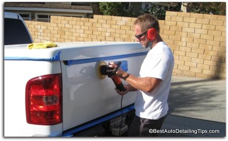 restore car paint with DA buffer