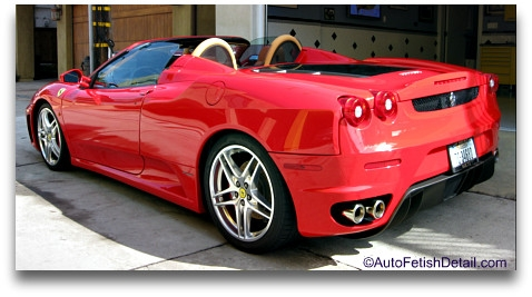 top rated car wax on red ferrari