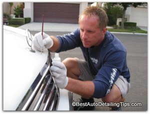 touching up with car paint