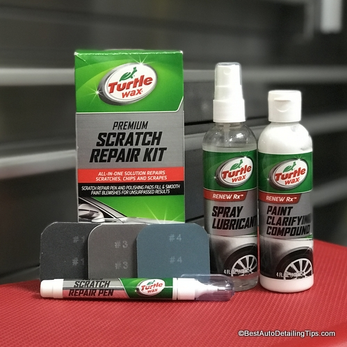 Turtle Wax clear coat scratch repair kit