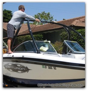 using the best boat wax