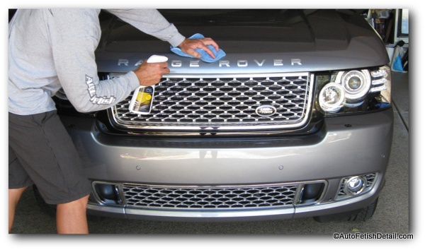 waxing new car range rover autobiography